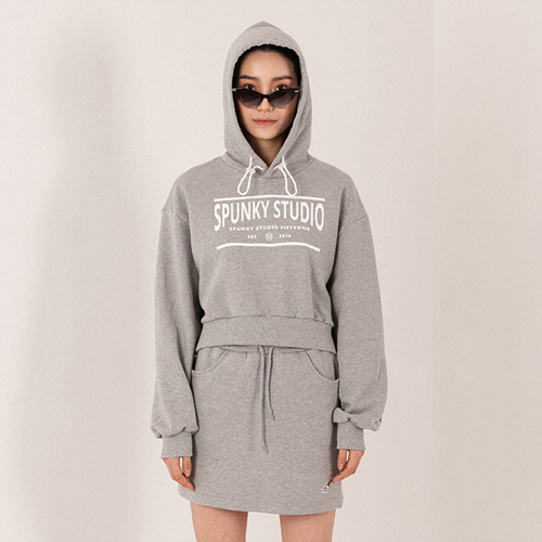 【SPUNKY STUDIO】20SS HOOD SET GRAY フード上下セット グレー