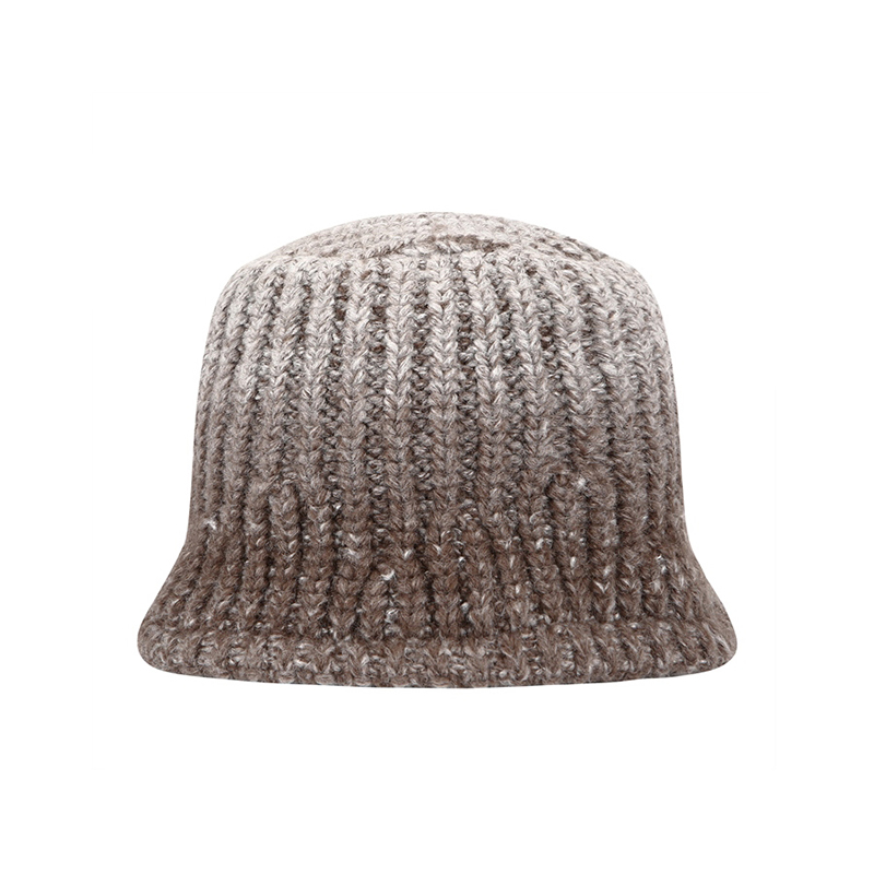 【TMO BY 13MONTH】GRADATION KNIT BUCKET HAT (BROWN)