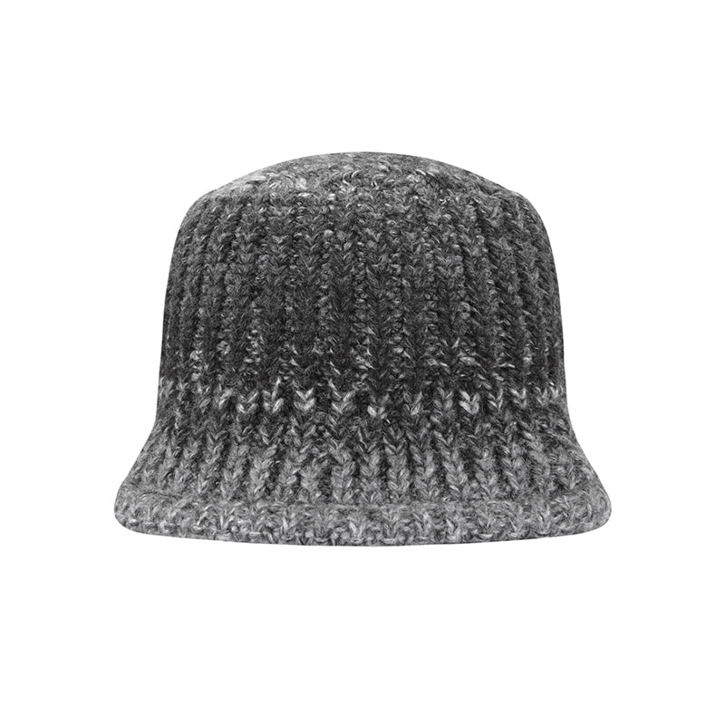 【TMO BY 13MONTH】GRADATION KNIT BUCKET HAT (GRAY)