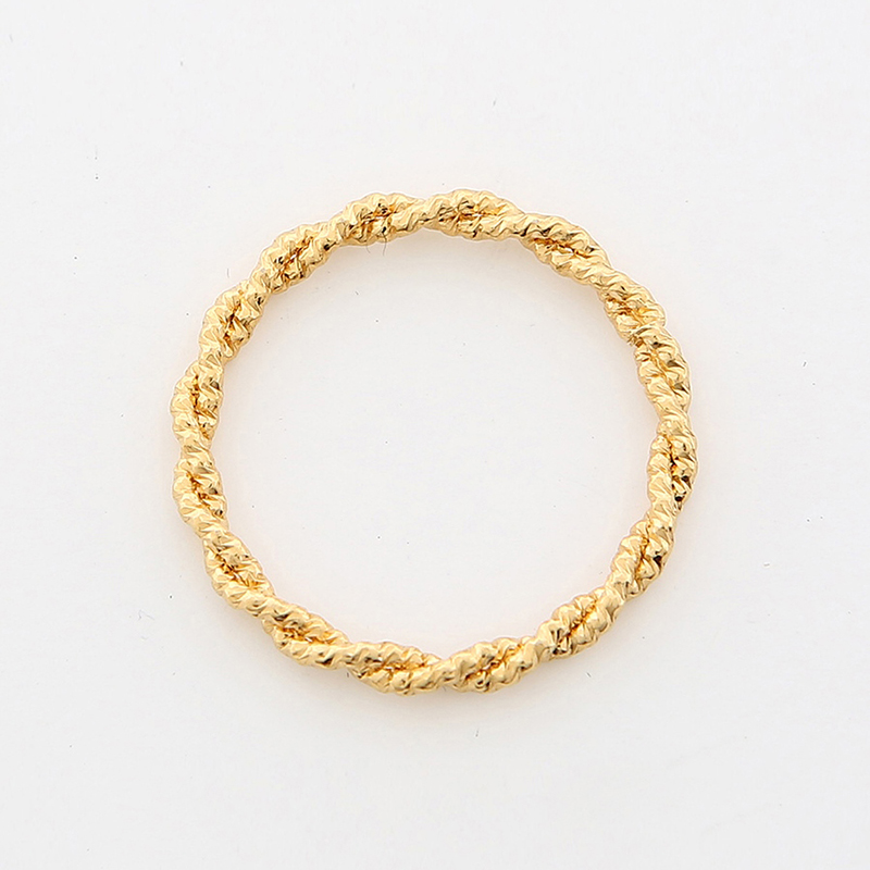 【TMO BY 13MONTH】ROPE TWIST RING (GOLD)