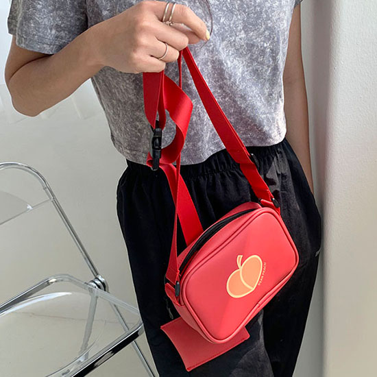 【B ABLE TWO】Peach Mini Bag RED ピーチミニバッグ レッド